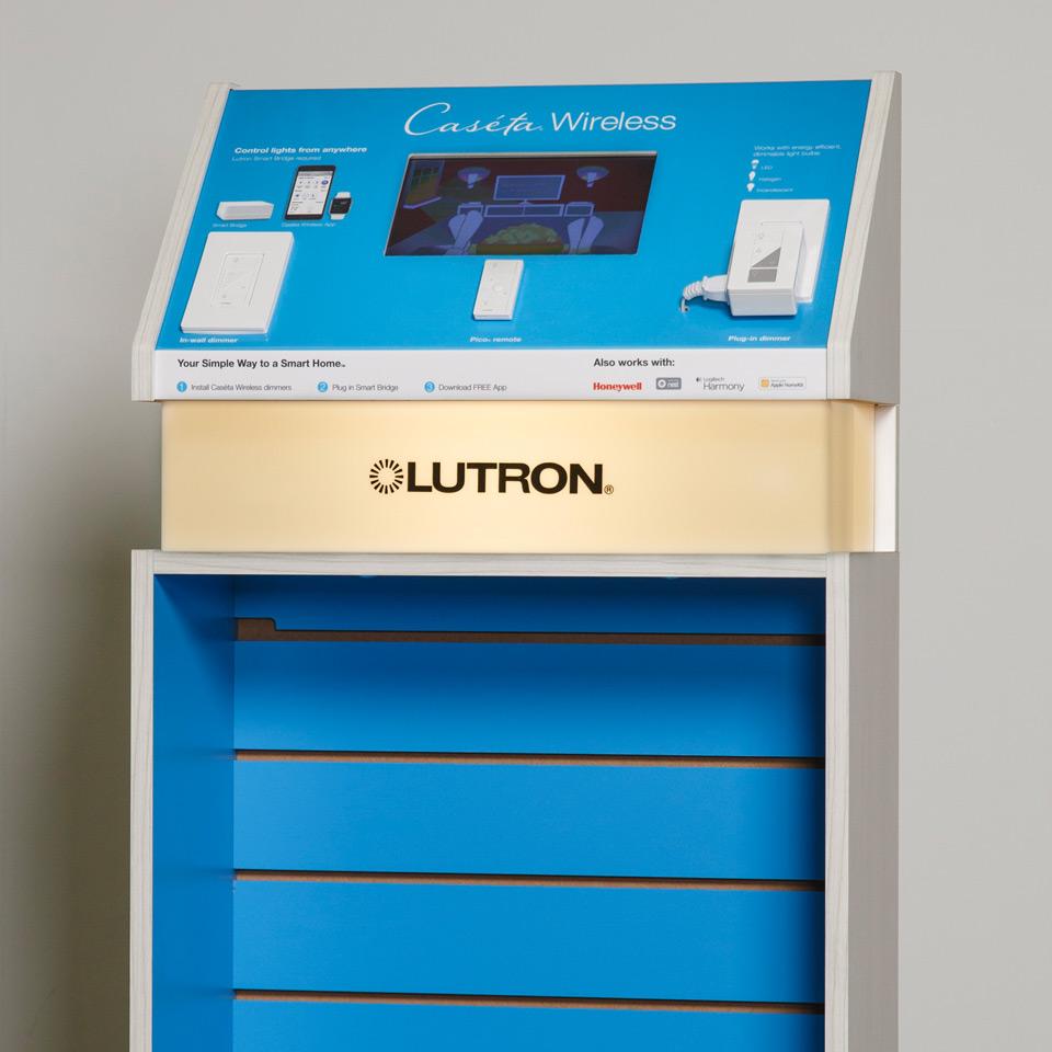 Lutron Display Case by Versatek